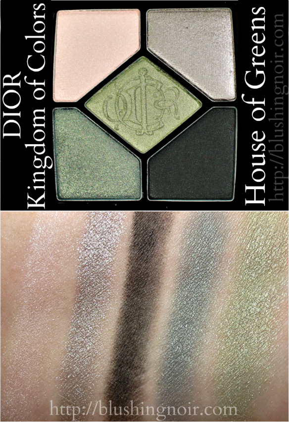Dior House of Greens 5 Couleur eyeshadow palette swatches