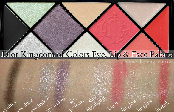 Dior Kingdom of Colors Eye, Lip & Face Palette Swatches