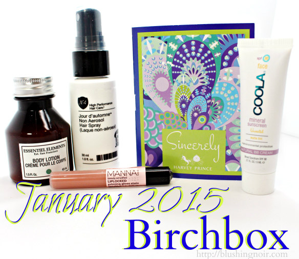 January 2015 Birchbox Swatches Review