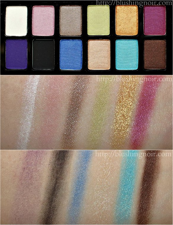Maybelline The Brights Eyeshadow Palette Swatches