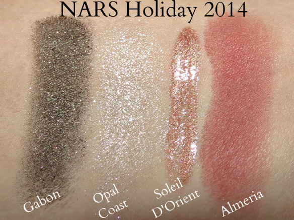 NARS Holiday 2014 Makeup Swatches