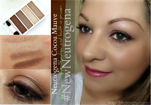 Neutrogena Cocoa Mauve Long Wear Eye Shadow and built in primer Swatches #NewNeutrogena #Collectivebias
