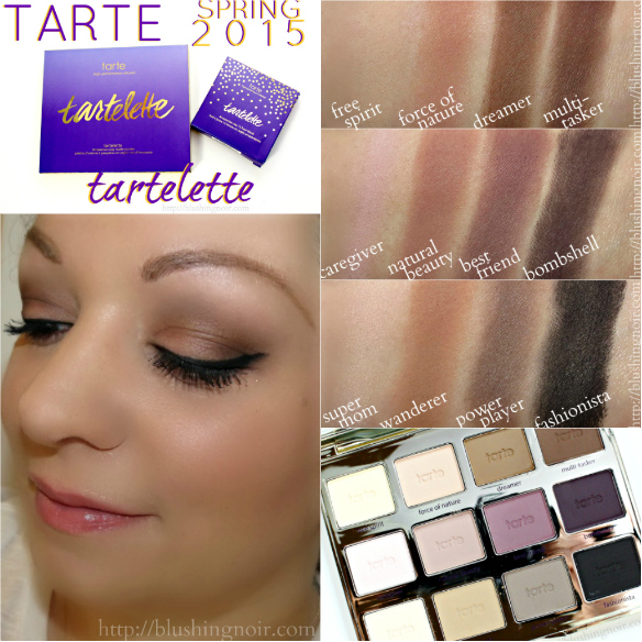 Tarte Tartelette Collection Spring 2015 Swatches Review Look