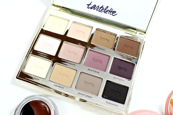 Tarte Tartelette eyeshadow palette swatches review