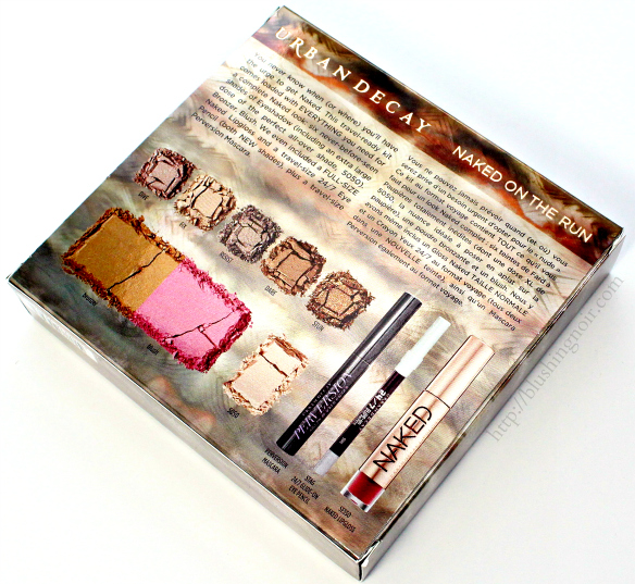 Urban Decay Naked on the Run Palette contents