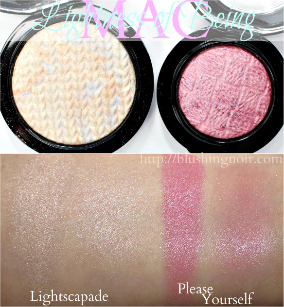 MAC Mineralize Skinfinish Blush Swatches Lightness of Being