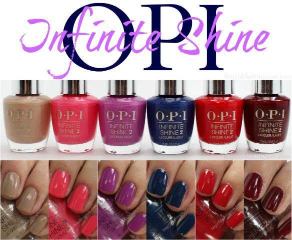 OPI Infinite Shine Nail Polish Swatches Review Photos