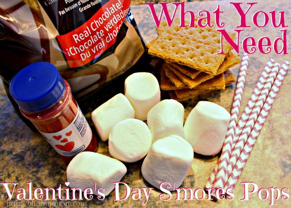 Valentine's Day S'more Pops ingredients