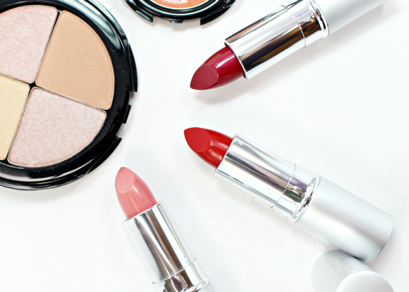glo minerals lipstick swatches