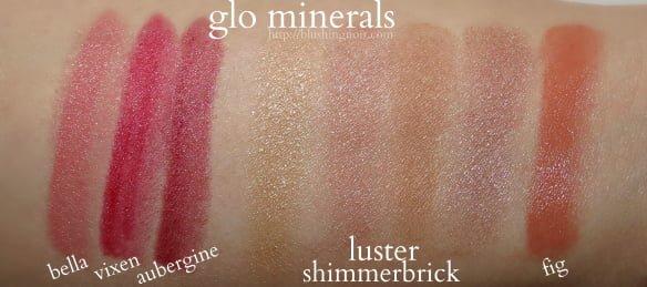 glo minerals swatches