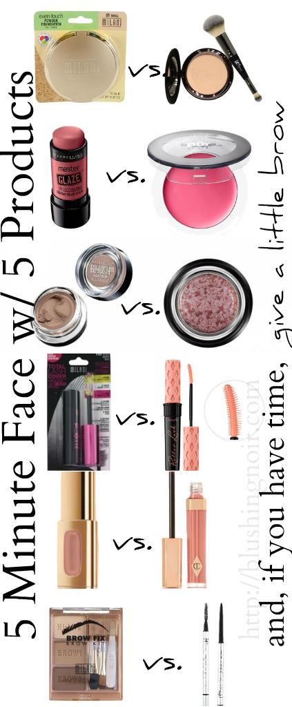 5 minute face makeup