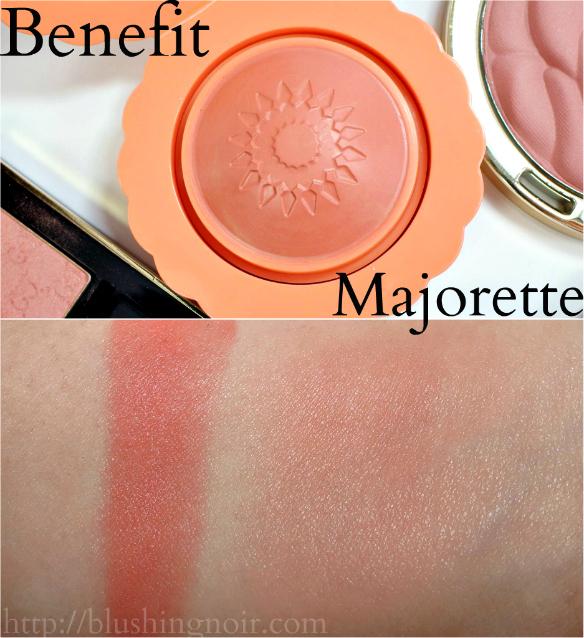 Benefit Majorette Blush Swatches