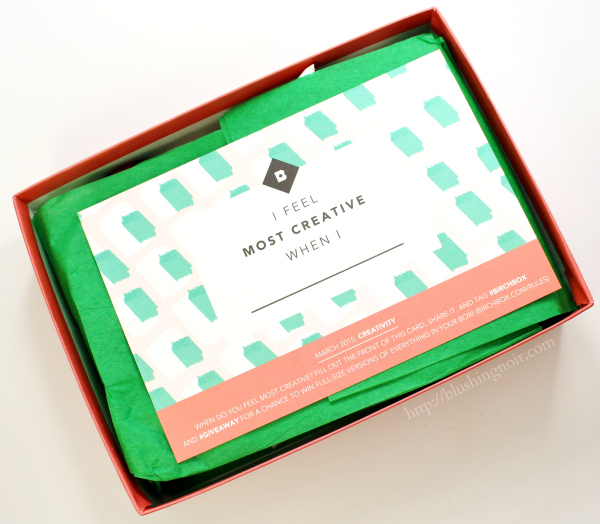 Birchbox March 2015 review