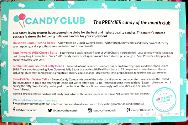 Candy Club March 2015