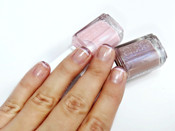 Essie Negative Space Double French Manicure how to tutorial