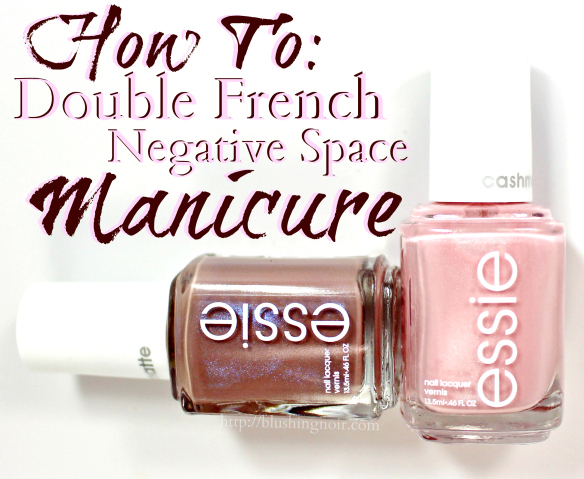 How to double french manicure nail art
