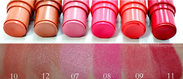 Jordana Blush Stick Swatches