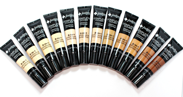 Jordana Complete Cover Foundation Review Swatches