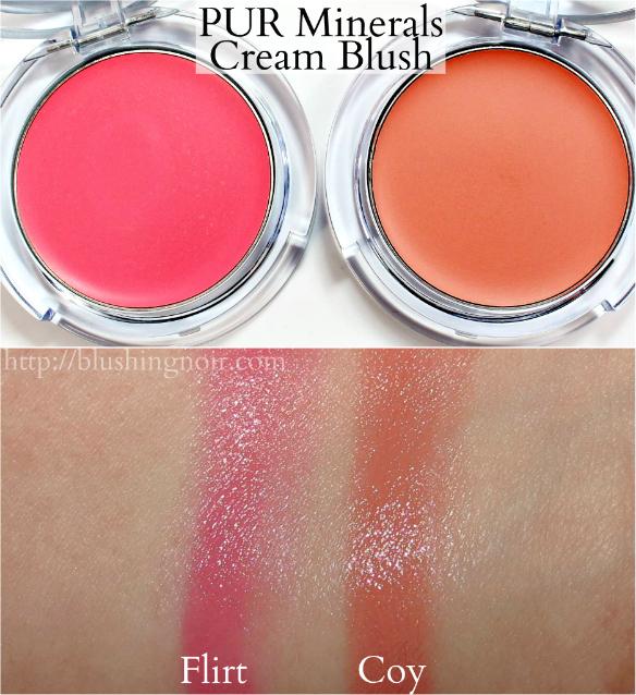 PUR Minerals Cream Blush Swatches