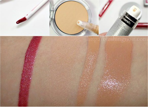 PUR Minerals Swatches
