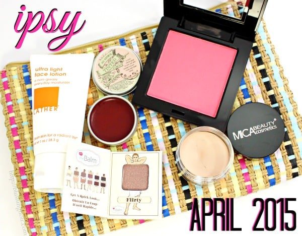April 2015 ipsy swatches review