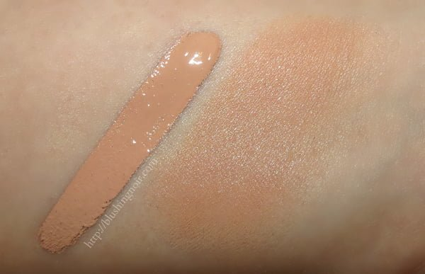Clinique Beyond Perfecting Foundation 5 Fair swatches