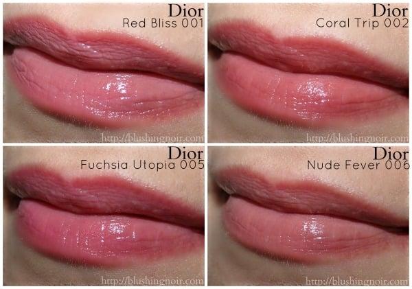 Dior Addict Tie Dye Lipstick Lip Swatches