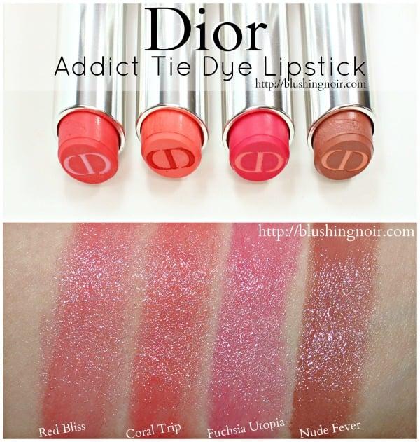 Dior Addict Tie Dye Lipstick Swatches