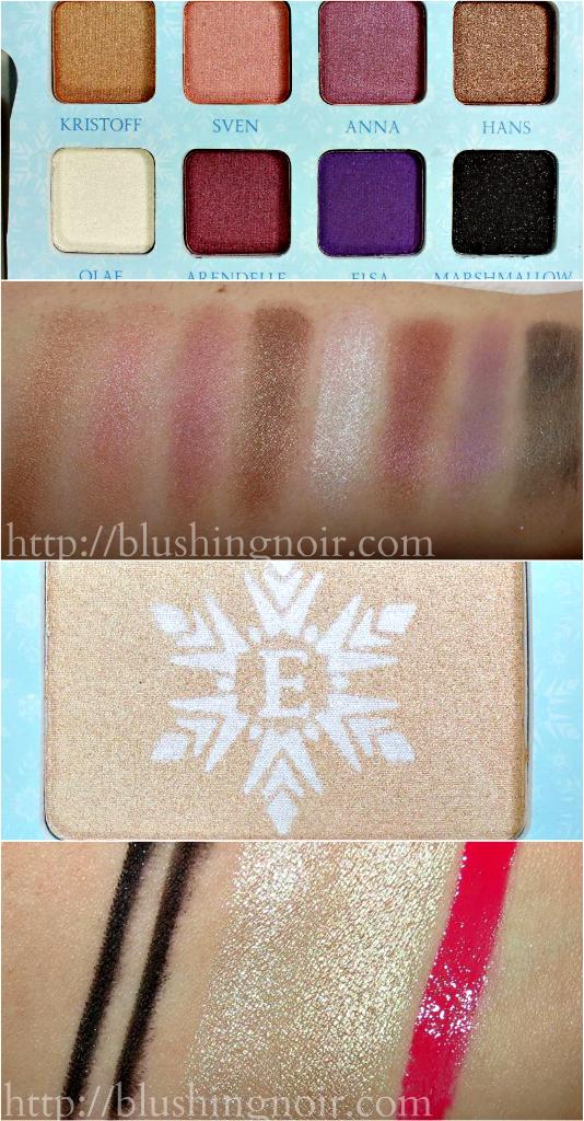 ELF Disney Elsa Snow and Ice Beauty Book Swatches