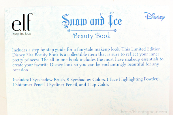 ELF Disney Elsa Snow and Ice Beauty Book back 1