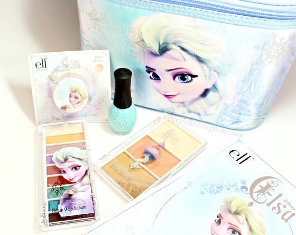ELF Disney Elsa makeup collection swatches review