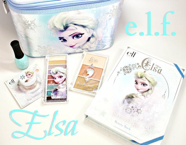 ELF Disney Elsa makeup swatches review