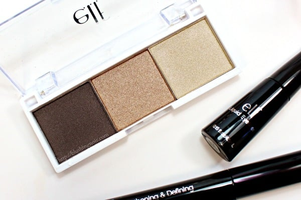 ELF Eyeshadow Trio Swatches 5 piece set