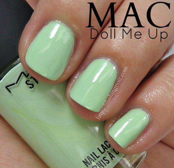 MAC Doll Me Up Nail Polish Swatches