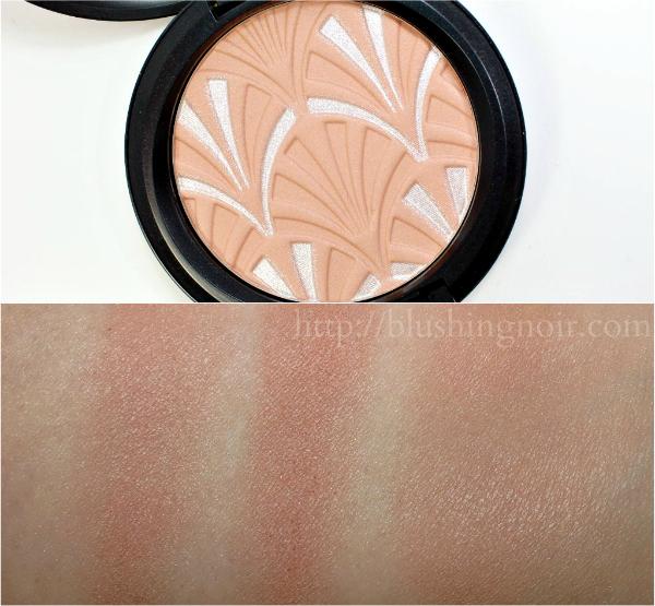 MAC Nude Pink highlight powder swatches Philip Treacy