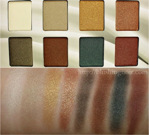 NYX Makeup Suede Color Palette Swatches