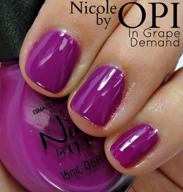 Nicole by OPI In Grape Demand Swatches