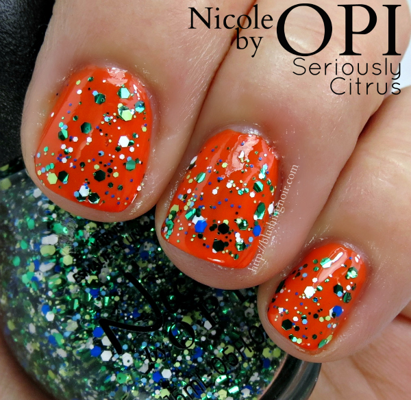 Nicole by OPI Seriously Citrus Swatches