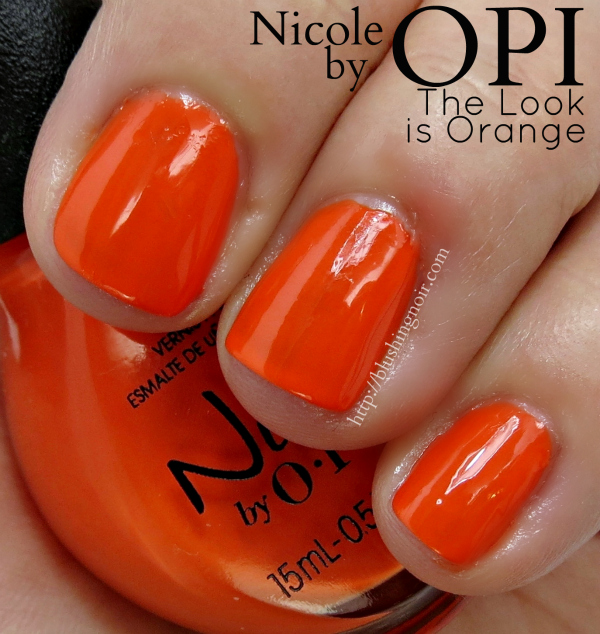 Nicole by OPI The Look is Orange Swatches