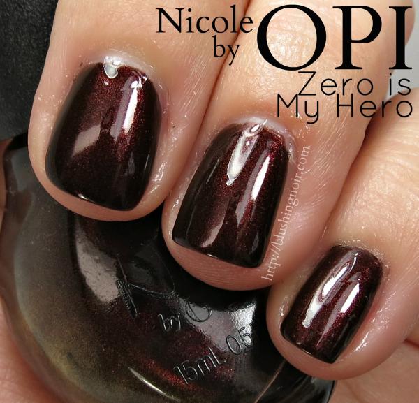 Nicole by OPI Zero is My Hero Nail Polish Swatches