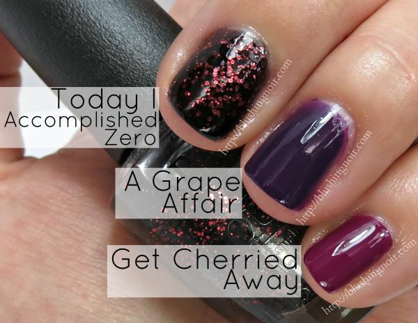 OPI A Grape Affair Nail Polish Swatches