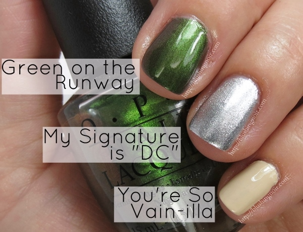 OPI Green on the Runway Swatches