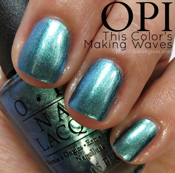 OPI This Colors Making Waves Nail Polish Swatches
