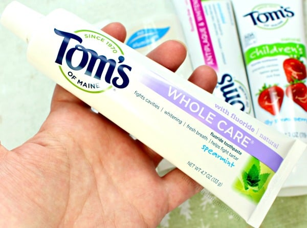 Toms of maine fluoride toothpaste spearmint