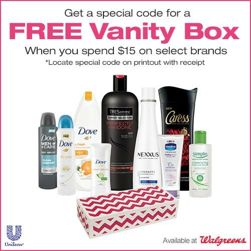 Get a Free Vanity Box with Your $15 Purchase at Walgreens + GIVEAWAY!