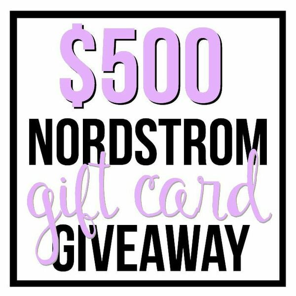 $500 Nordstrom Gift Card Giveaway!