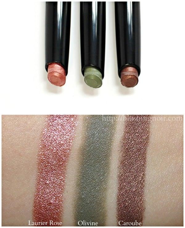 Chanel Stylo Fresh Effect Eyeshadow Swatches