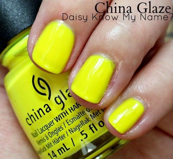 China Glaze Daisy Know My Name Nail Polish Swatches