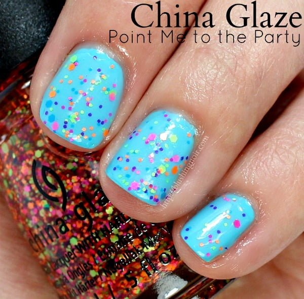 China Glaze Point Me to the Party Nail Polish Swatches