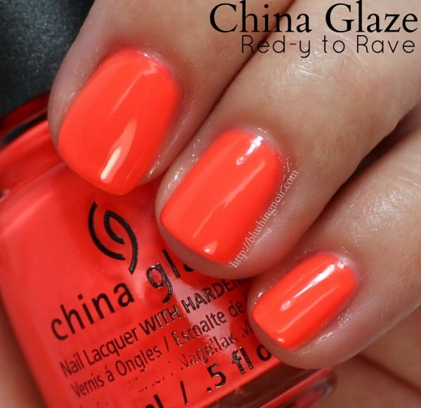 China Glaze Red-Y to Rave Nail Polish Swatches